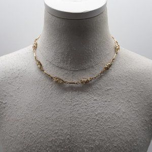 Vintage Sarah Coventry Necklace with Caged Pearls